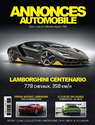 Magazine Annonce Automobile Mai 2018 couverture