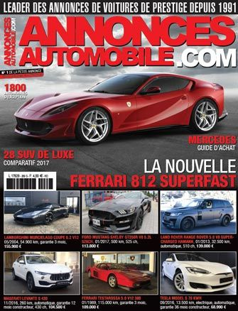 Magazine Annonce Automobile Mars 2017 couverture