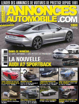 Magazine Annonce Automobile Novembre 2017 couverture