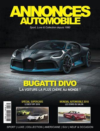 Magazine Annonce Automobile Octobre 2018 couverture